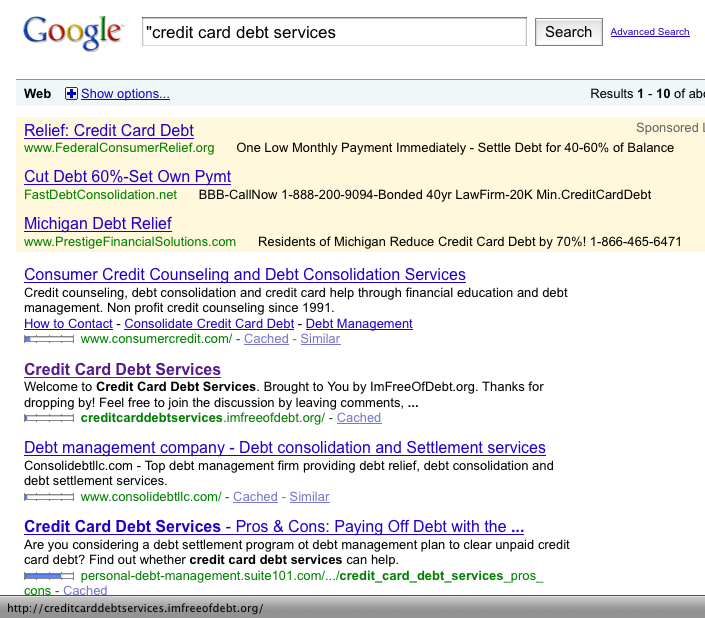 Credit Card Debt Services