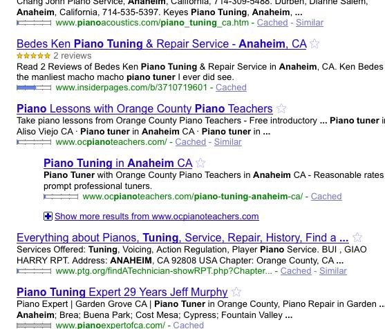 Anaheim Piano Tuning